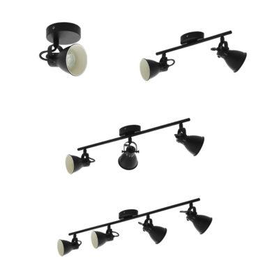 Focos Aspen - blancos - negros - apliques - plafones - Eglo - Liderlamp (1)
