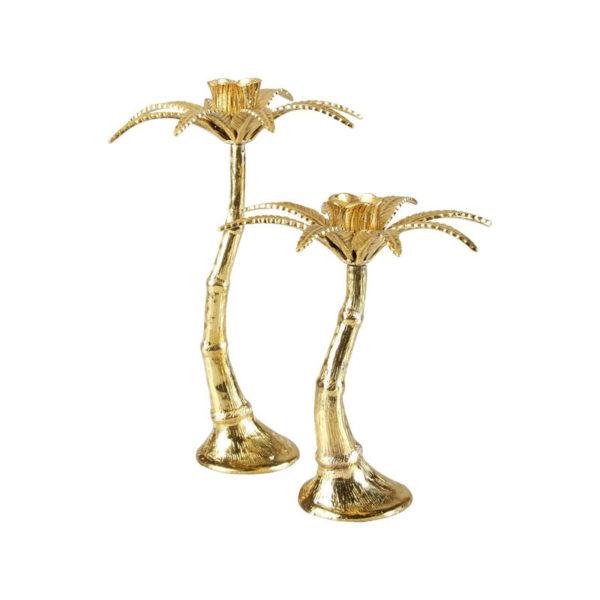Candelabro Palm Tree – &Klevering – Dorado – Natural Chic – porta velas – Liderlamp (2)