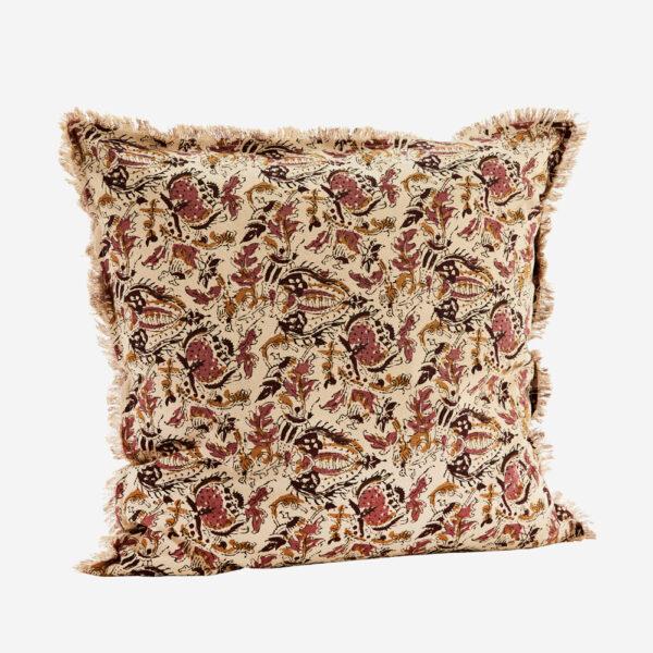 Funda de cojin flores burdeos - 50x50 - madam slotz - decoracion textil - Liderlamp
