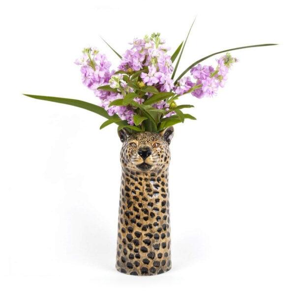 Jarron Leopardo ceramica – Quail ceramics – Florero – artesanal – flores – Liderlamp