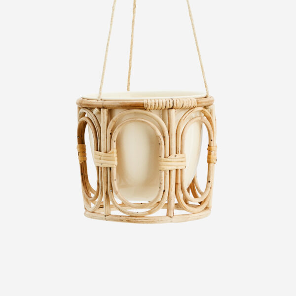 Maceta colgante de bambu - plantas de interior - Madam Slotz - Liderlamp (1)