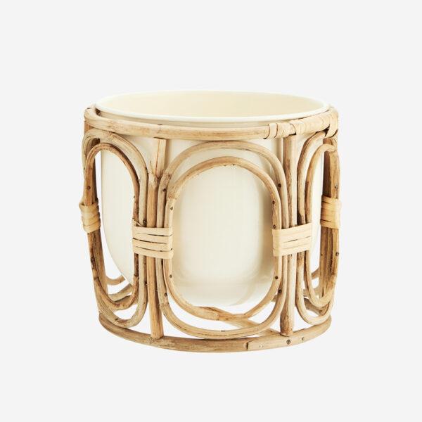 Maceta con revestimiento de bambu - plantas de interior - Madam Slotz - Liderlamp
