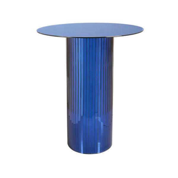 Mesa auxiliar Mirror – azul – futurista – salon comedor – Liderlamp