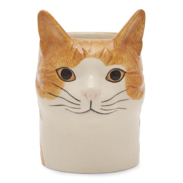 Portalapices Gato Squash ceramica - Quail ceramics - artesanal - escritorio - Liderlamp (1)