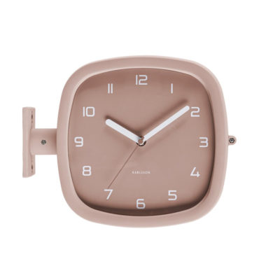Reloj de pared Doubler - Present Time - rosa - analogico - decoracion - Liderlamp