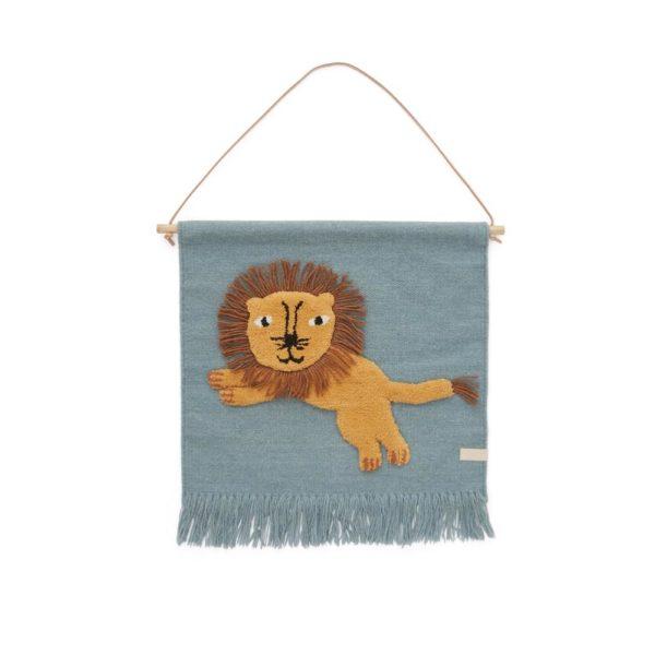 Tapiz leon – decoracion infantil – textiles – animales selva – OYOY – Liderlamp (1)