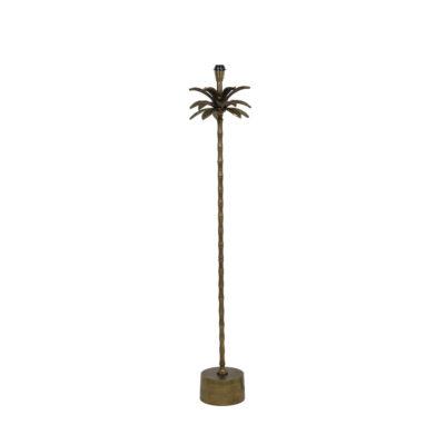 Base pie de salón Areca - palmera - decoración botánica - bronce