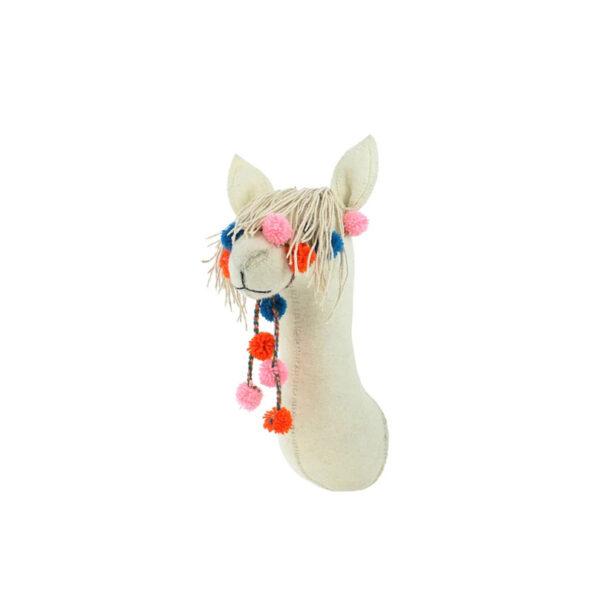 Cabeza de Llama de fieltro – mini – decoracion pared ninos – Fiona Walker – Liderlamp (2)