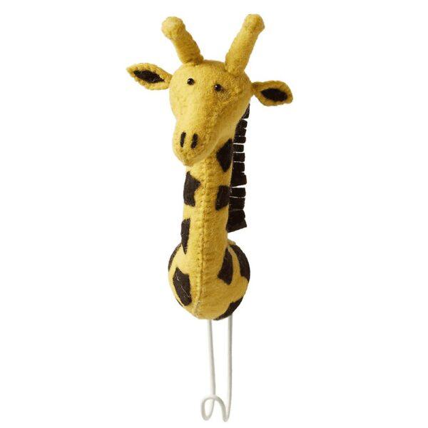 Cabeza de jirafa de fieltro - Gancho - almacenaje pared - Fiona Walker - Liderlamp (1)