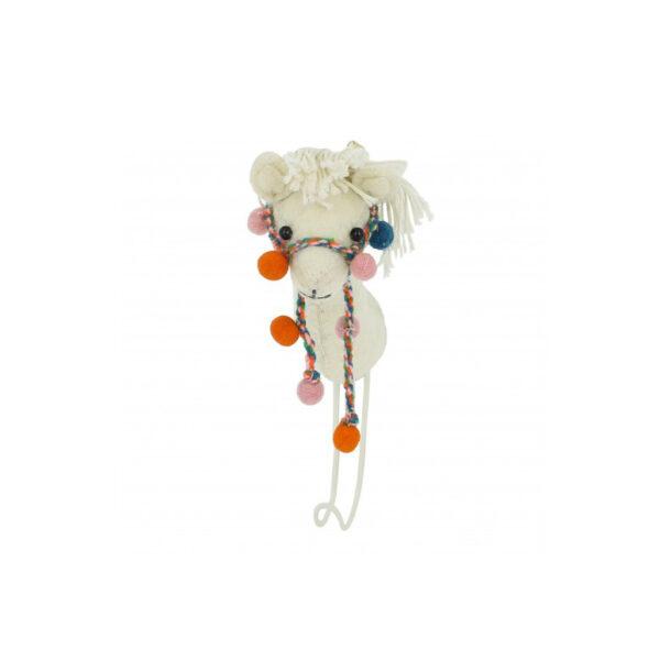 Cabeza de llama de fieltro - gancho - almacenaje pared - Fiona Walker - Liderlamp