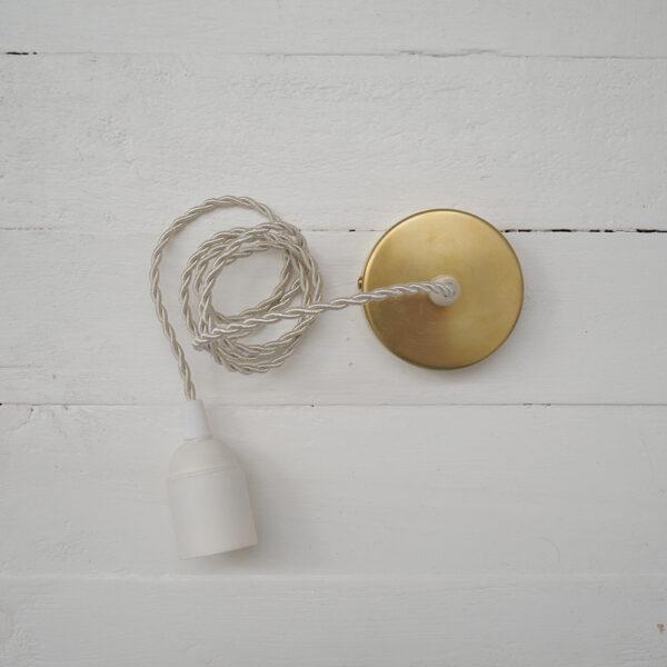 Cable con base de laton para pantalla – accesorio iluminacion – Liderlamp
