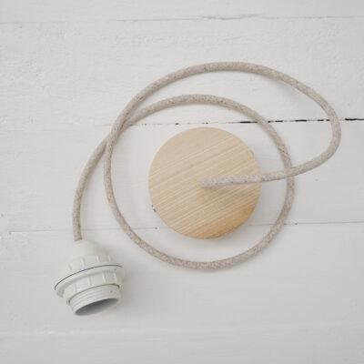 able con base de madera para pantalla de rosca - accesorio - Liderlamp