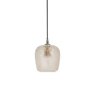 Colgante Sadar - lampara de techo - cristal con relieve - textura - Liderlamp