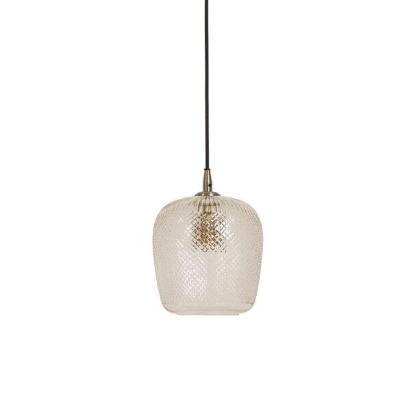 Colgante Sadar – lampara de techo – cristal con relieve – textura – Liderlamp