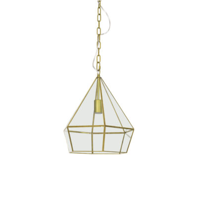 Colgante Simon - lampara farol - metal y cristal - estilo marroqui - Liderlamp