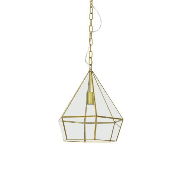 Colgante Simon – lampara farol – metal y cristal – estilo marroqui – Liderlamp