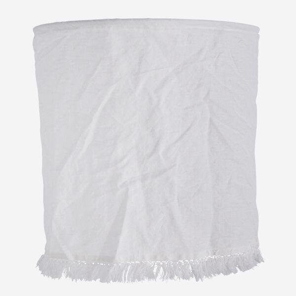 Pantalla Flaz - lino blanco - Madam Stolz - Bohemio - Liderlamp (1)