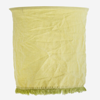 Pantalla Flaz - lino limon - Madam Stolz - Bohemio - pantalla textil - Liderlamp