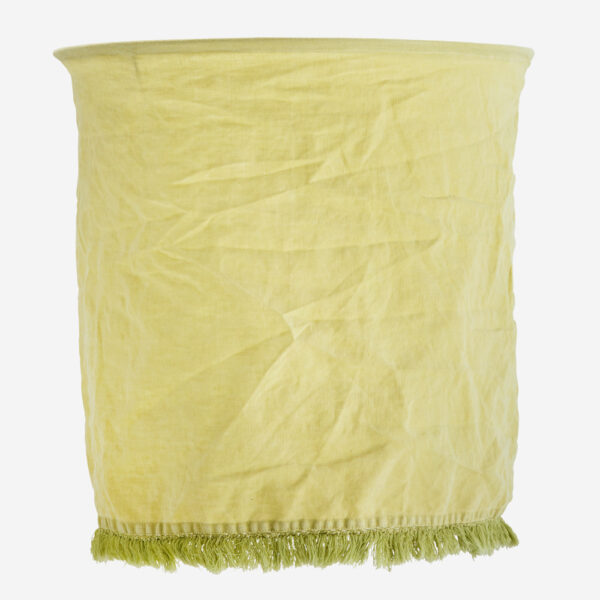 Pantalla Flaz – lino limon – Madam Stolz – Bohemio – pantalla textil – Liderlamp