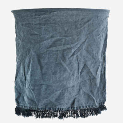 Pantalla Flaz - lino petroleo - Madam Stolz - Bohemio - pantalla textil - Liderlamp