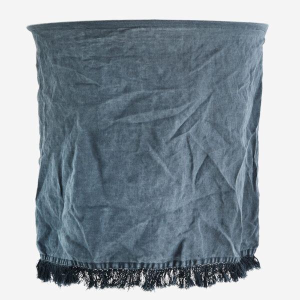 Pantalla Flaz – lino petroleo – Madam Stolz – Bohemio – pantalla textil – Liderlamp