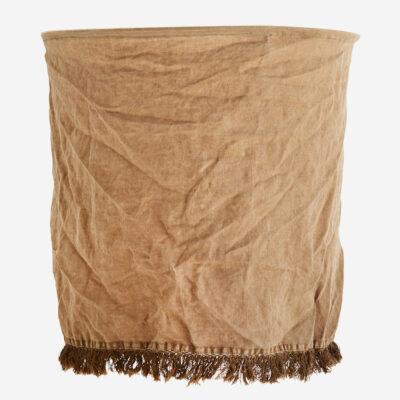 Pantalla Flaz - lino tierra - Madam Stolz - Bohemio - pantalla textil - Liderlamp (1)