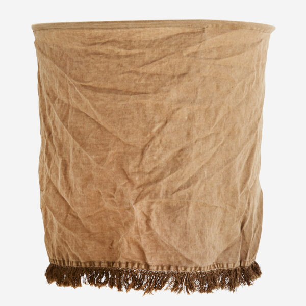 Pantalla Flaz – lino tierra – Madam Stolz – Bohemio – pantalla textil – Liderlamp (1)