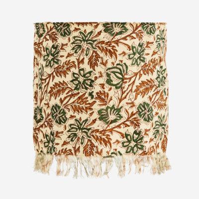Pantalla estampado flores verdes - Madam Stolz - Bohemio