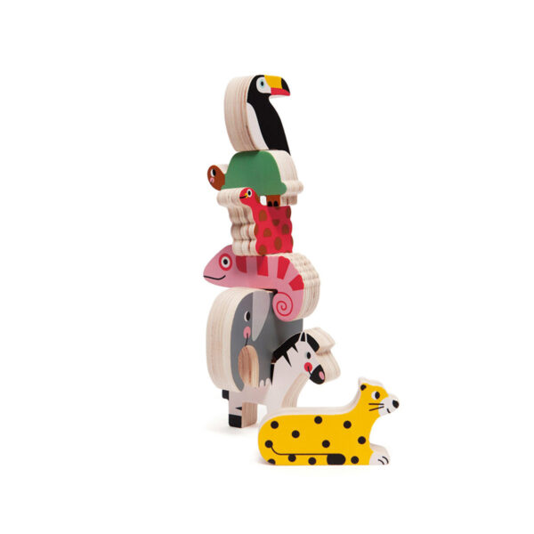 Apilable animales jungla - juegos niños - madera - Petit Monkey