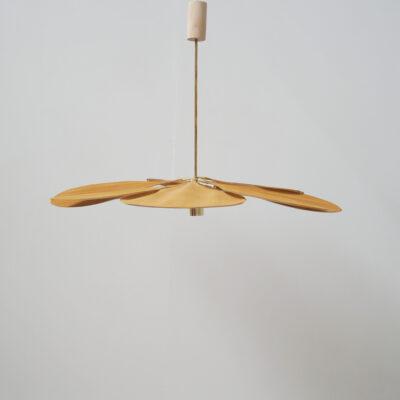 Colgante Petalo - Mostaza - flor - lampara artesanal - Georges Liderlamp (4)
