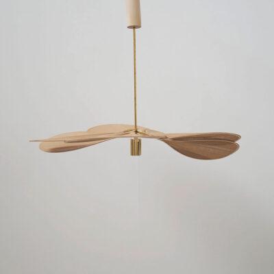 Colgante Petalo - Nude Ombre - flor - lampara artesanal - Georges - liderlamp (1)