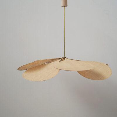 Colgante Petalo - Raphia - Lampara artesanal - Flor - Georges - Liderlamp (1)