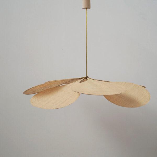 Colgante Petalo – Raphia – Lampara artesanal – Flor – Georges – Liderlamp (1)