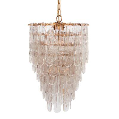 Colgante Serac - cristal y metal - Chandelier - laton - Dutch Style - Liderlamp