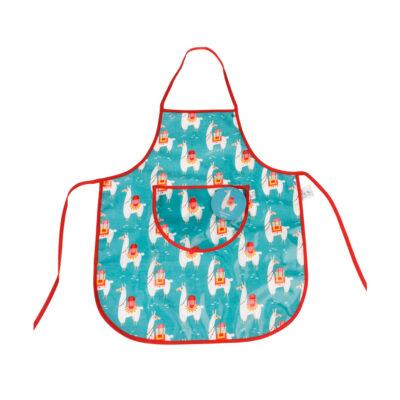 Delantal Infantil - Llamas - aprender a cocinar - recetas ninos - Liderlamp (1)