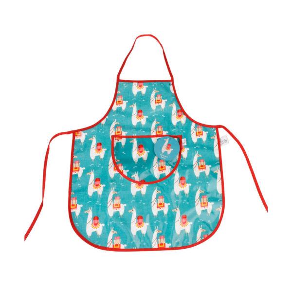 Delantal Infantil – Llamas – aprender a cocinar – recetas ninos – Liderlamp (1)