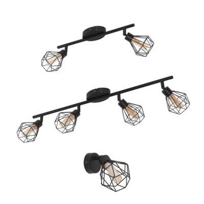 Focos Casso - negros - aplique - plafon - varias luces - EGLO - Liderlamp (1)