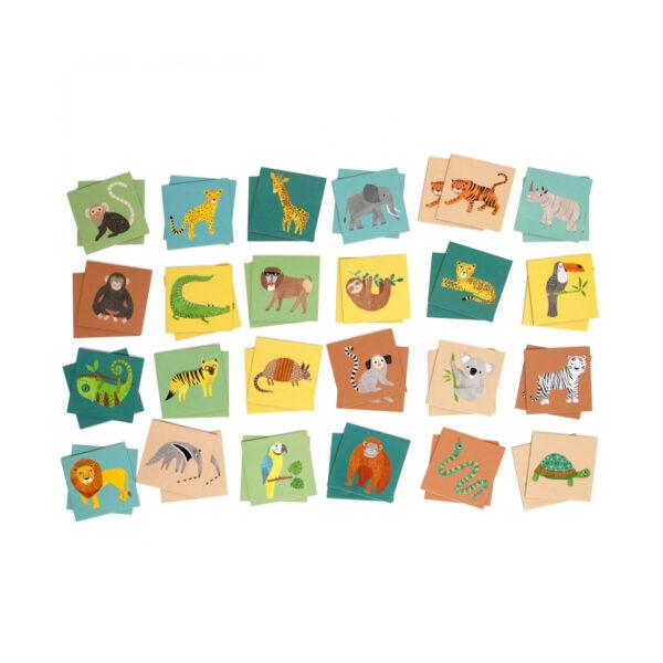 Juego de memoria de la jungla – juegos ninos – carton – Petit Monkey – Liderlamp (1)