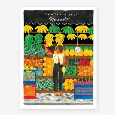 Lamina Fruteria - poster - ilustracion - All the ways to say - cuadro - Liderlamp