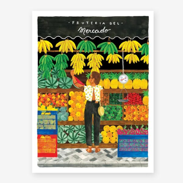Lamina Fruteria - poster - ilustracion - All the ways to say - cuadro - Liderlamp