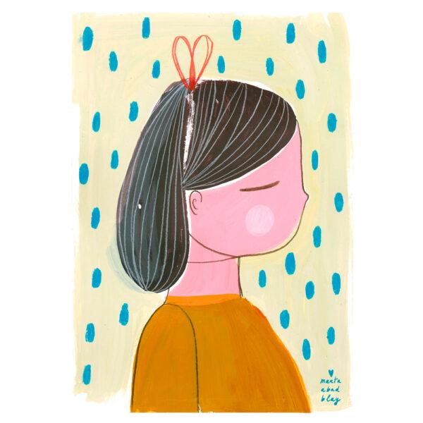 Lamina Girl – Marta Abad Blay – Ilustracion – Decoracion mural – Liderlamp