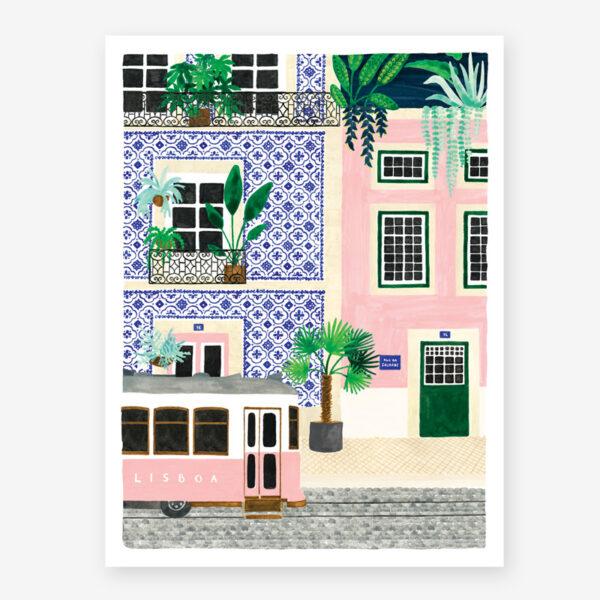 Lamina Lisboa – poster – ilustracion – All the ways to say – cuadro – Liderlamp