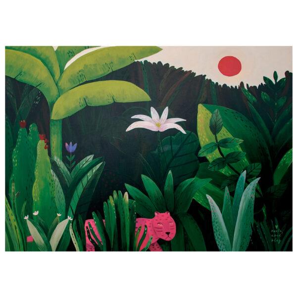 Lamina Summer Jungle - Marta Abad Blay - Ilustracion - Decoracion mural - Liderlamp