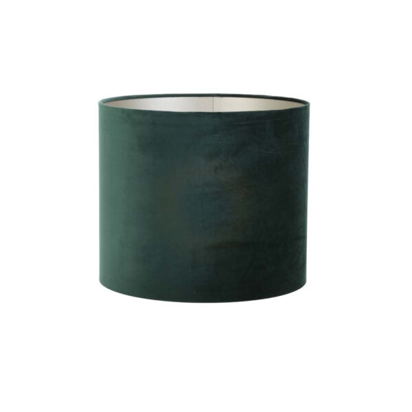 Pantalla Haul – terciopelo – verde musgo – Live & Living – Liderlamp (1)
