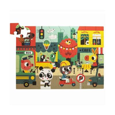 Puzzle Ciudad - 48 piezas - juegos ninos - carton - Petit Monkey - Liderlamp (1)