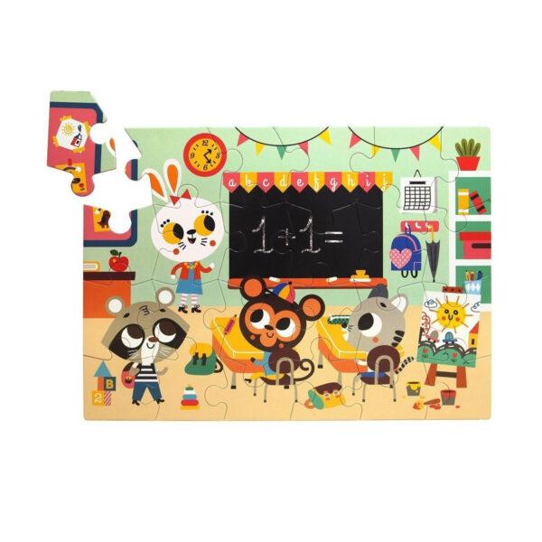 Puzzle Colegio - 24 piezas - juegos ninos - carton - Petit Monkey - Liderlamp (1)
