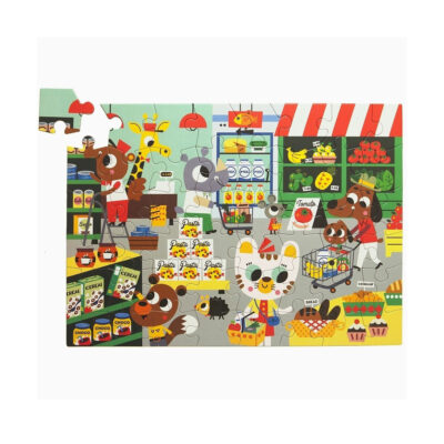 Puzzle Supermercado - 48 piezas - juegos ninos - carton - Petit Monkey - Liderlamp (1)