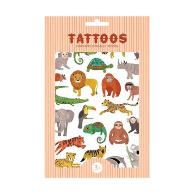 Tatoos temporales - Animales jungla - Calcomanías - Tatuajes - Juegos