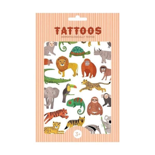 Tatoos temporales – Animales jungla – Calcomanias – Tatuajes – Juegos – liderlamp (2)