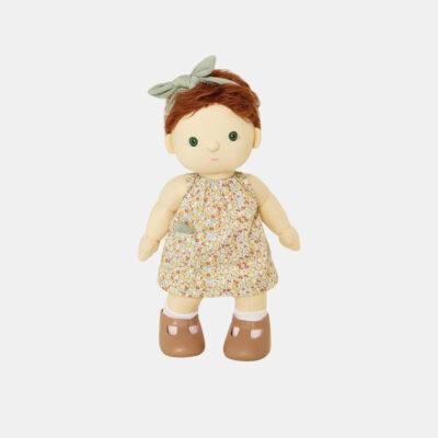 Vestido floral para muneco de trapo - Olli Ella - Dinkum dolls - Liderlamp (1)
